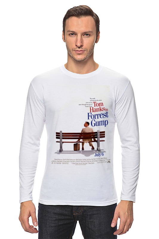 Лонгслив Printio Форрест гамп / forrest gump футболка wearcraft premium slim fit printio форрест гамп forrest gump