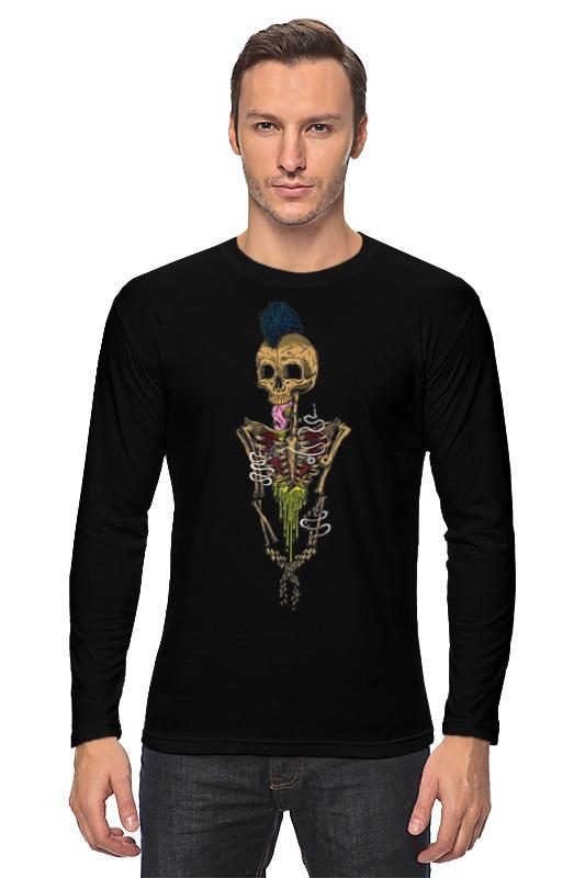 Лонгслив Printio Skeleton art k colouring women ladies automatic self wind watch hollow skeleton mechanical wristwatch for gift box