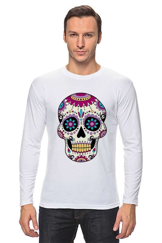 Лонгслив Printio Мексиканский череп мексиканский танец