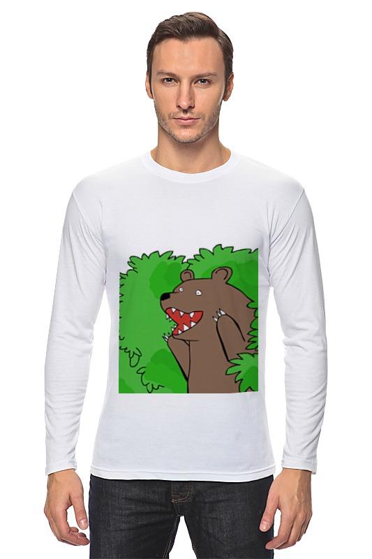 Лонгслив Printio Медведь из кустов андрей кустов