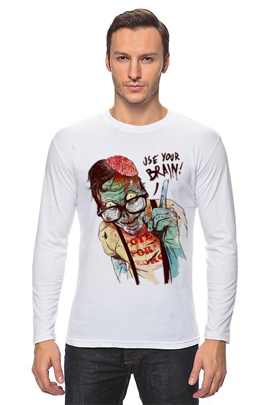 Лонгслив Printio Clever zombie цена 2017