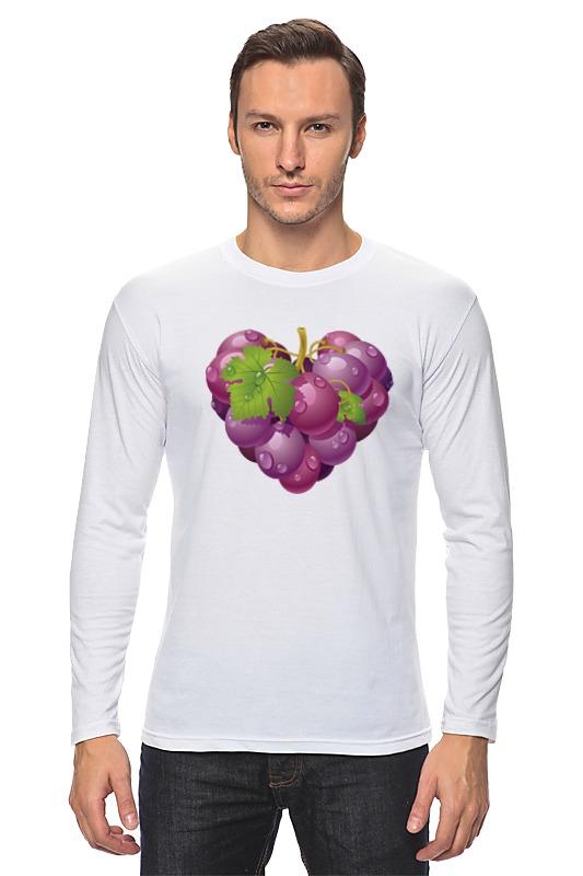 Лонгслив Printio Виноградная лоза. виноград.сердце. фрукт.
