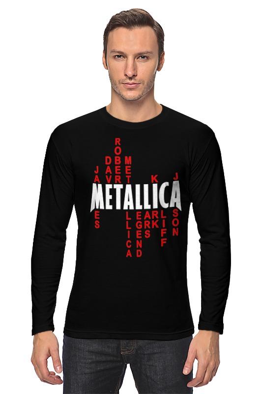 Лонгслив Printio Metallica history making terrorism history