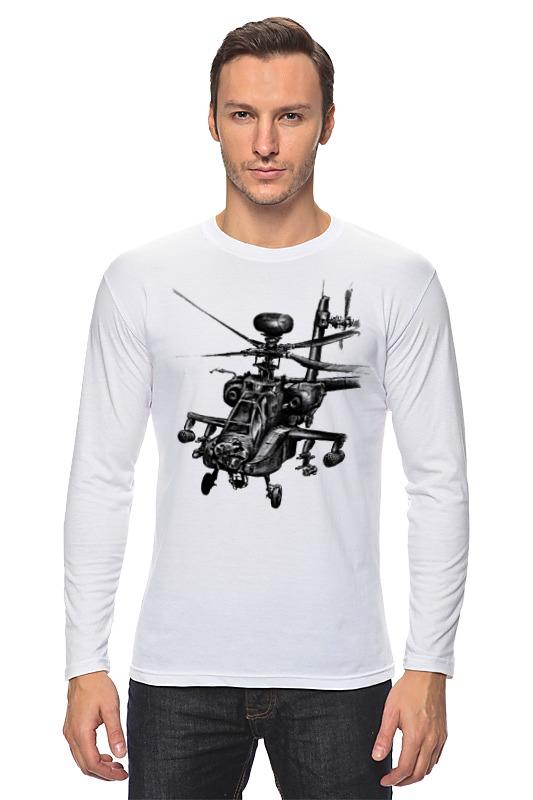 Лонгслив Printio Апач (вертолёт) вертолёт моделист ан 64а
