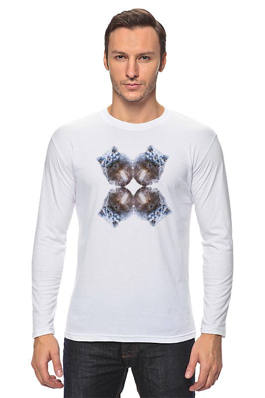 Лонгслив Printio Снежный котик лонг футболка для фотошопа