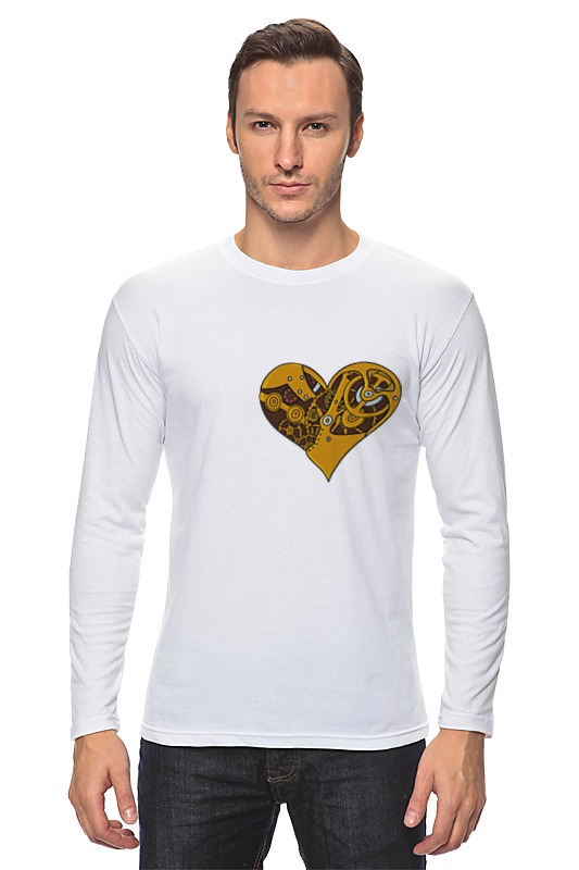 Лонгслив Printio Механическое сердце лонгслив printio акварель сердце из голубики