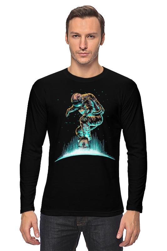 Лонгслив Printio Космонавт на скейте лонгслив printio кот на скейте