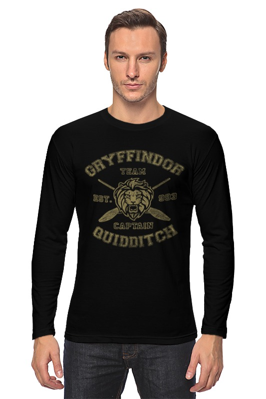 купить Лонгслив Printio Gryffindor quidditch team недорого