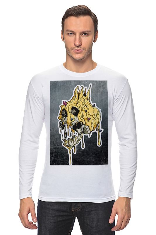 Лонгслив Printio Gold skull худи print bar skull