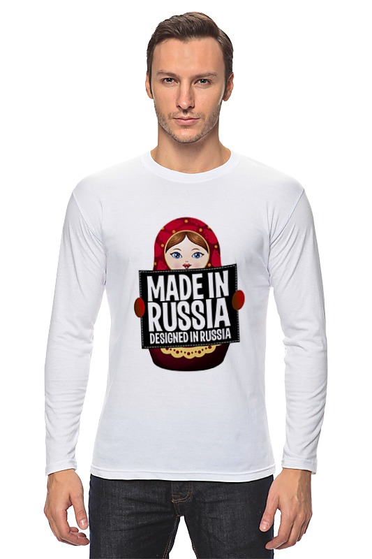 Лонгслив Printio Made in russia by hearts of russia футболка print bar trump 16