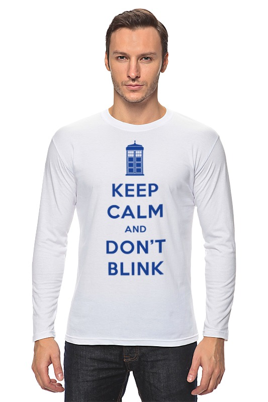 Лонгслив Printio Keep calm and don't blink (tardis) цена