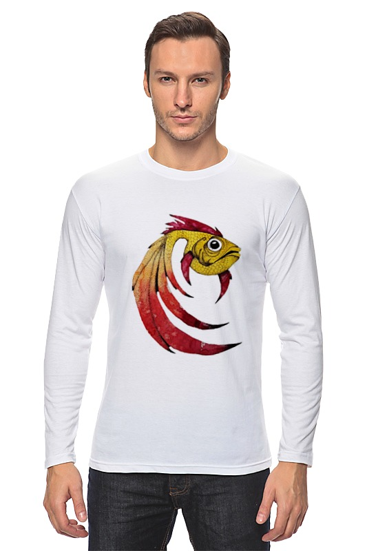 Лонгслив Printio Золотая рыбка лонгслив printio кот и золотая рыбка