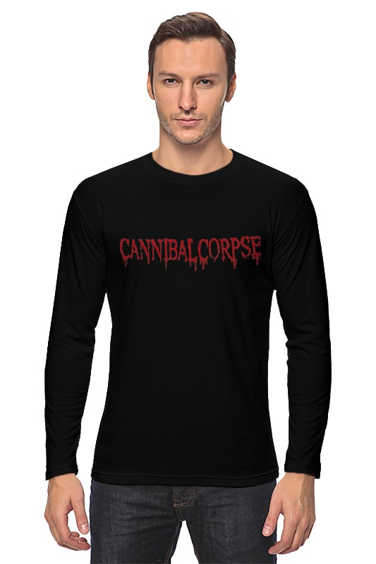 Лонгслив Printio Cannibal corpse logo simple bathroom ceramic wash four piece suit cosmetics supply brush cup set gift lo861050