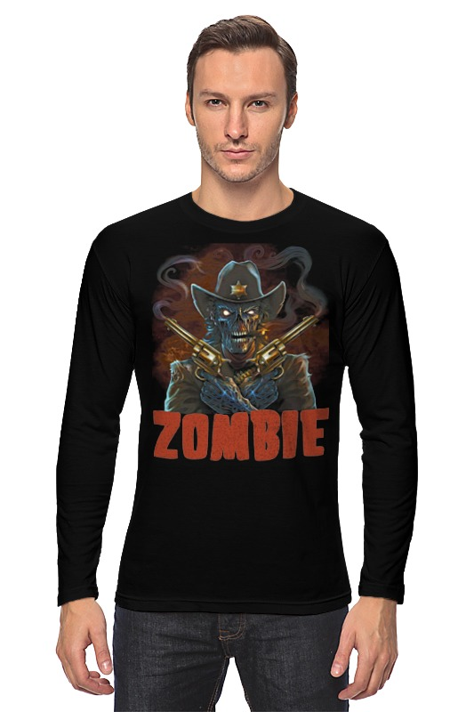 Лонгслив Printio Zombie sheriff цена
