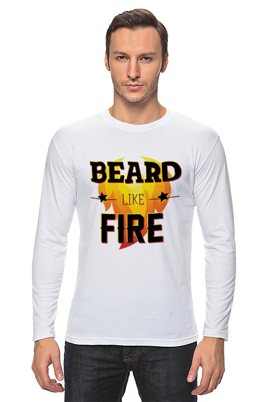 Лонгслив Printio Beard like fire лонгслив emoi emoi em002ewvpo90