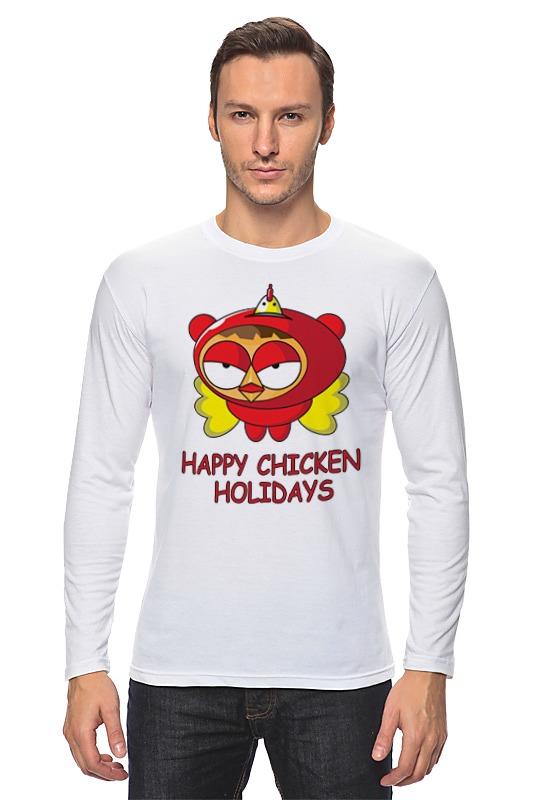 Лонгслив Printio Happy chicken holidays поло print bar happy chicken holidays
