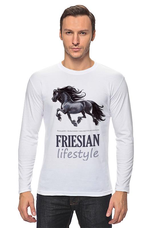 Лонгслив Printio Friesian lifestyle купить щебень на севере москвы