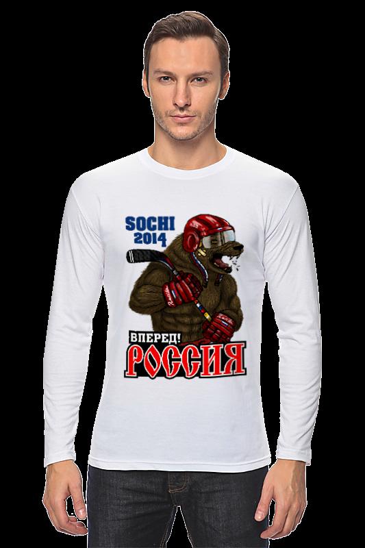 Лонгслив Printio Россия вперед  хоккей