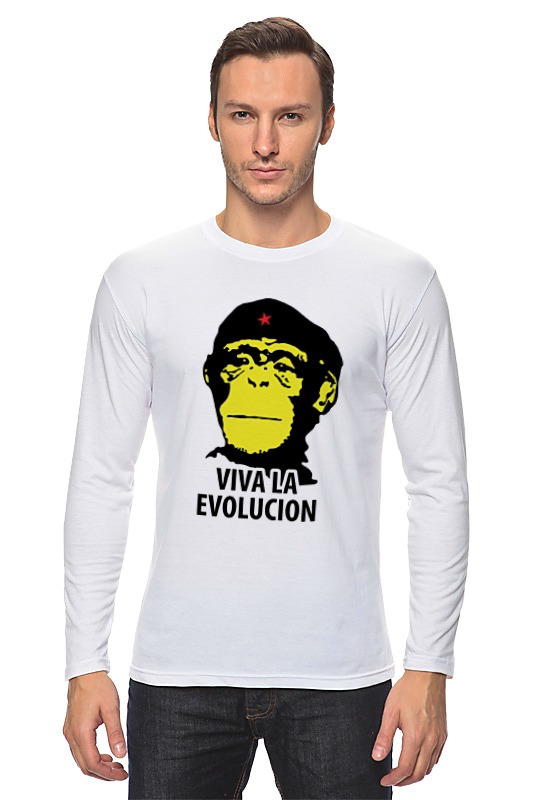 Лонгслив Printio Viva la evolution ободки la viva ободок