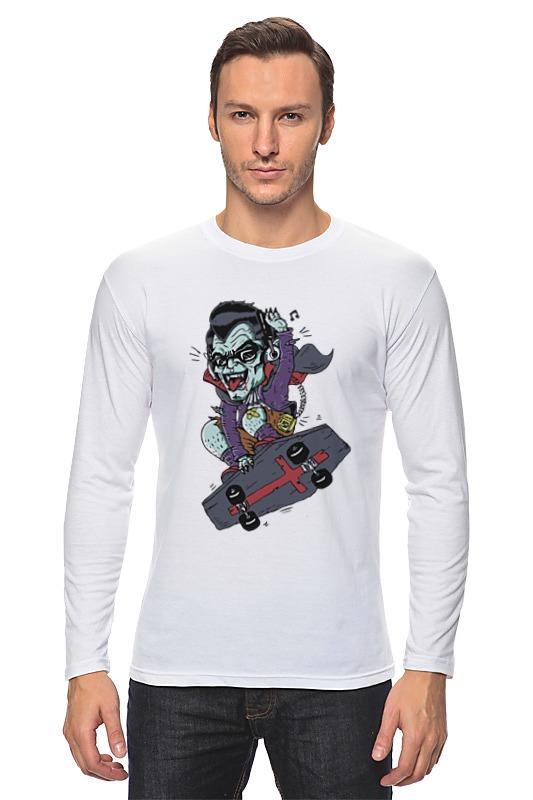Лонгслив Printio Дракула на скейте дракула