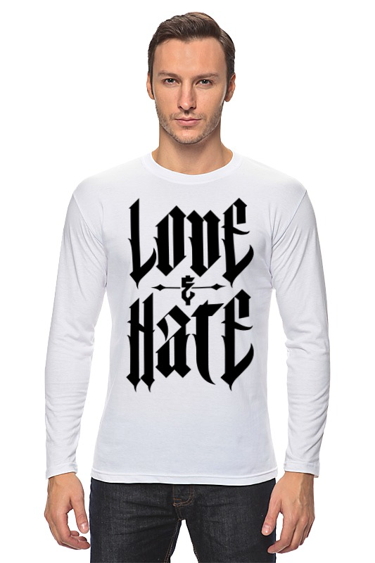 Лонгслив Printio От любви до ненависти от ненависти до любви
