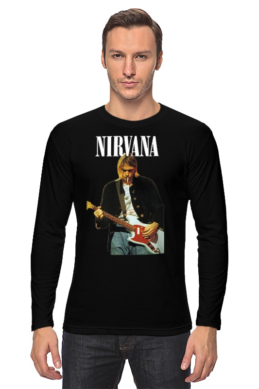 Лонгслив Printio Nirvana kurt cobain live & loud t-shirt replacement assembly parts buzzer ringer loud speaker for iphone 6