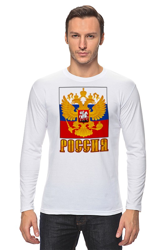 Лонгслив Printio Россия герб лонгслив printio крым россия