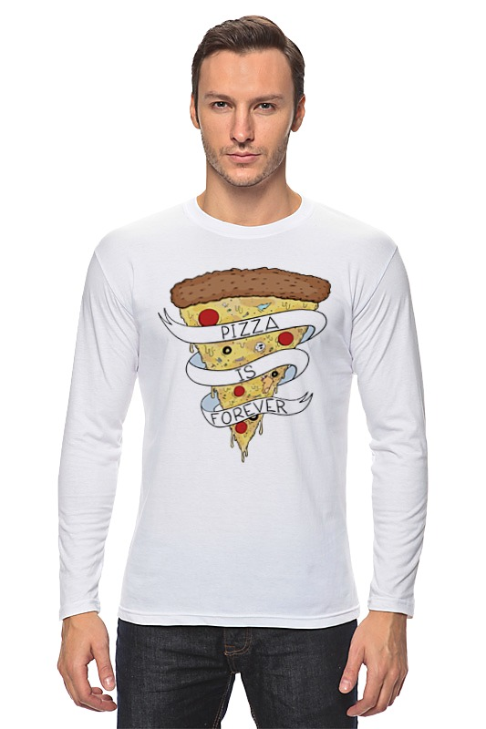 Лонгслив Printio Пицца навсегда (pizza forever) пицца pizza 8