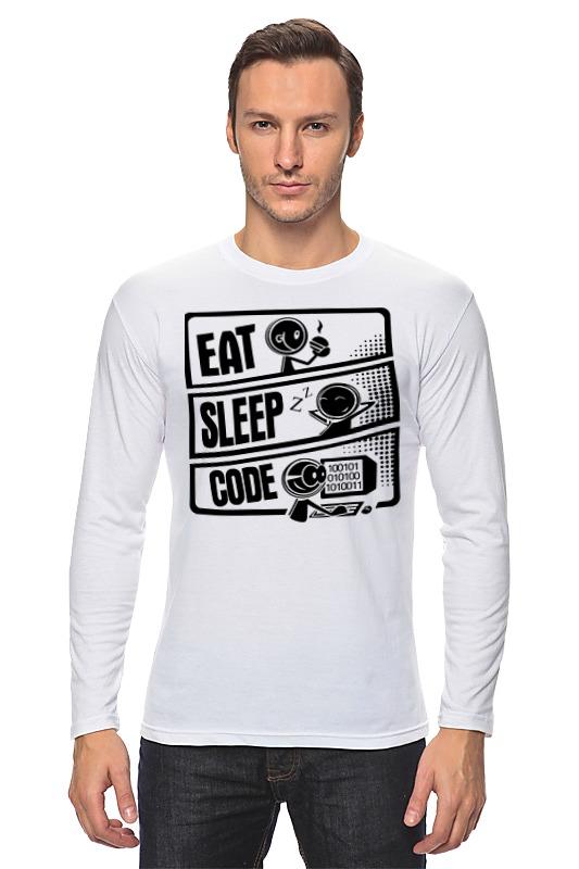 Лонгслив Printio Eat, sleep, code лонгслив printio eat sleep code