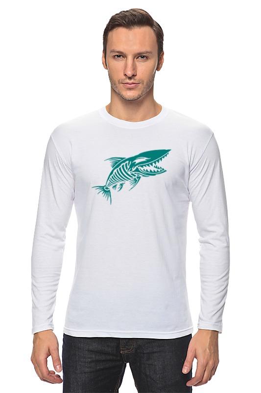 Лонгслив Printio Рыба скелет олег ольхов рыба морепродукты на вашем столе