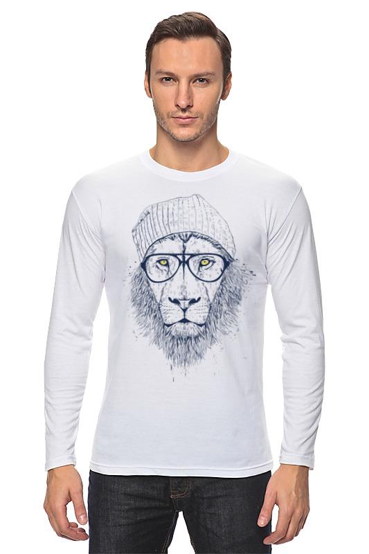Лонгслив Printio Лев в шапке лонгслив printio мудрый лев