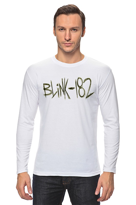 Лонгслив Printio Blink-182 yellow logo