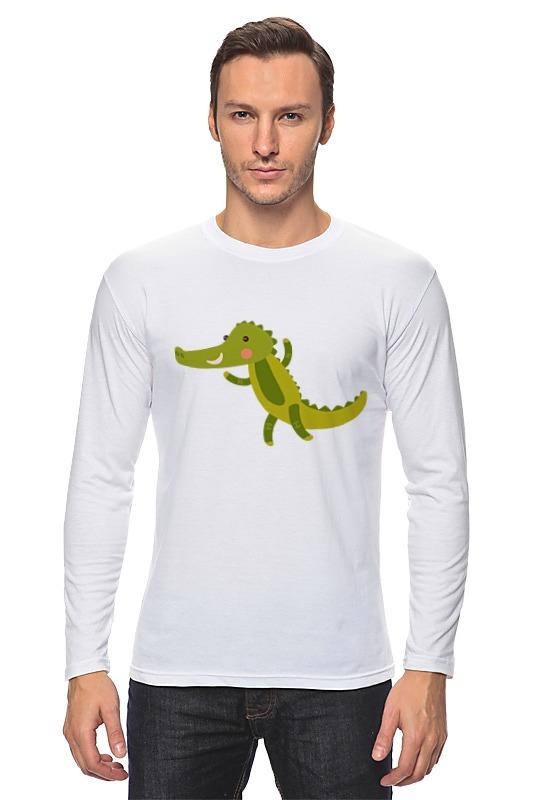 Лонгслив Printio Крокодил огромный крокодил