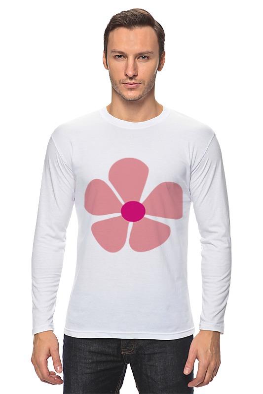 Лонгслив Printio Розовый цветок bonpoint хлопковый розовый лонгслив