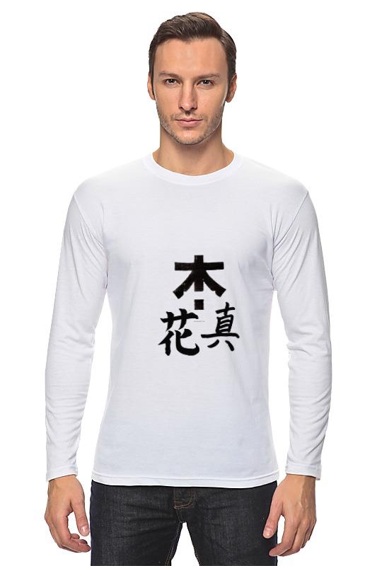 Лонгслив Printio Япония. минимализм уют 100х175 япония белый