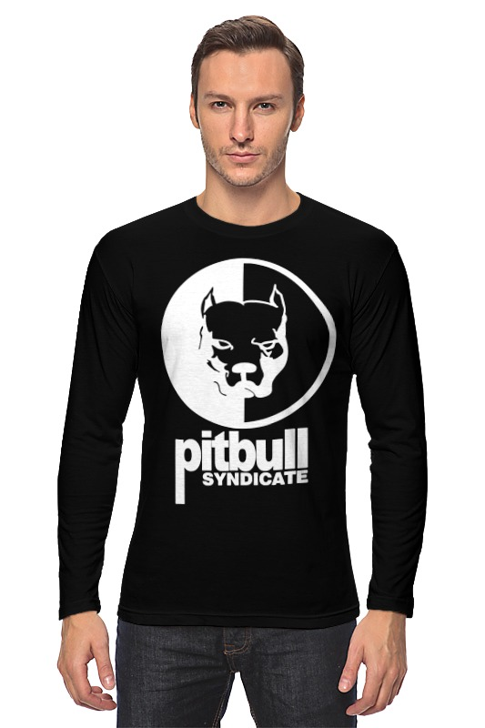 Лонгслив Printio Pitbull syndicate pitbull pitbull globalization href