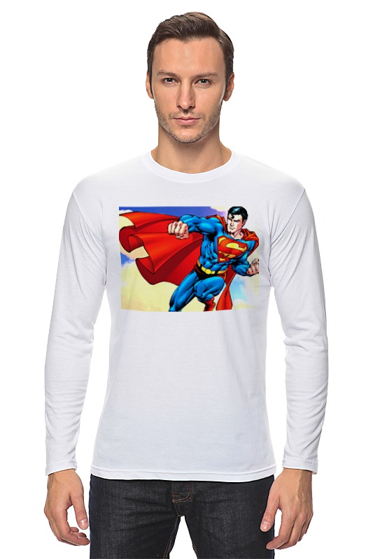 Лонгслив Printio Супермен