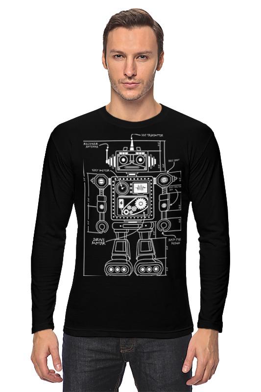 Лонгслив Printio Робот