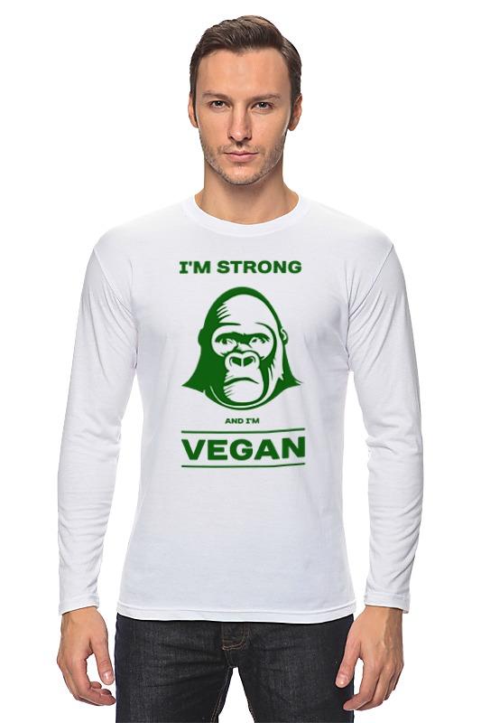 Лонгслив Printio I'm strong & i'm vegan отсутствует природные ресурсы и окружающая среда