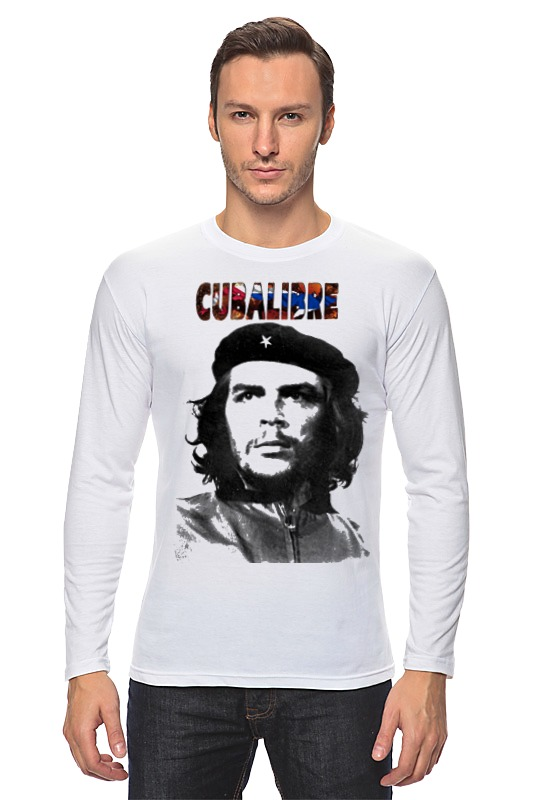 Лонгслив Printio Cuba libre, hasta la. victoria siempre! цена и фото