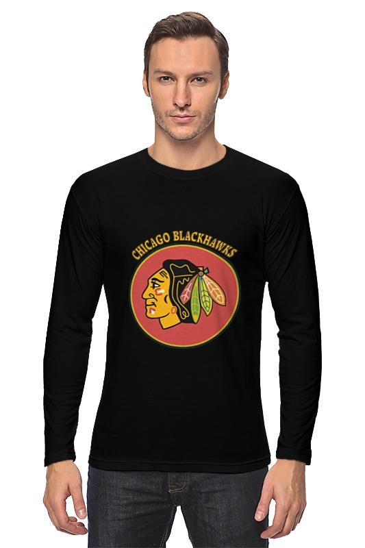 Лонгслив Printio Чикаго блэкхокс футболка print bar chicago blackhawks