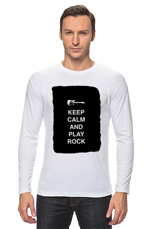 Лонгслив Printio Keep calm and play rock сумка printio keep calm and play rock