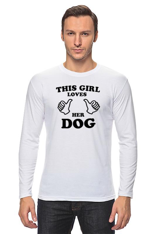 Лонгслив Printio Люблю свою собаку большую мягкую игрушку собаку лежа в москве