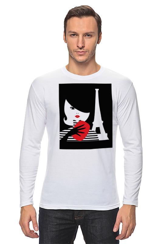 Лонгслив Printio Француженка, фэшн иллюстрация футболка классическая printio француженка фэшн иллюстрация