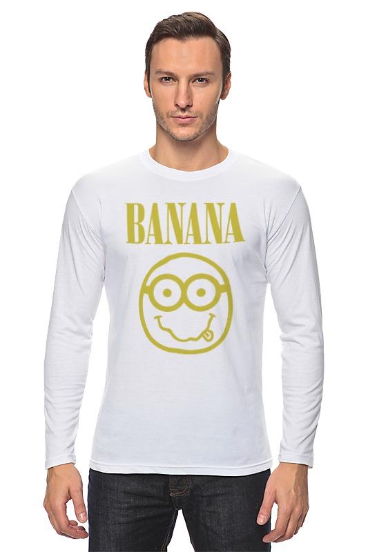 купить Лонгслив Printio Banana smile недорого