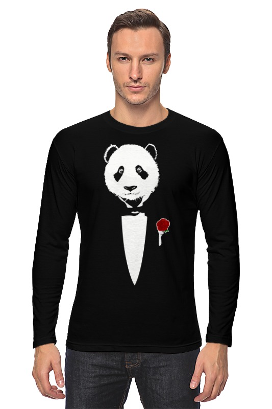 Лонгслив Printio Panda godfather