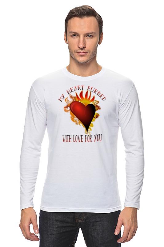 купить Лонгслив Printio Мое сердце возгорелось любовью к тебе по цене 951 рублей