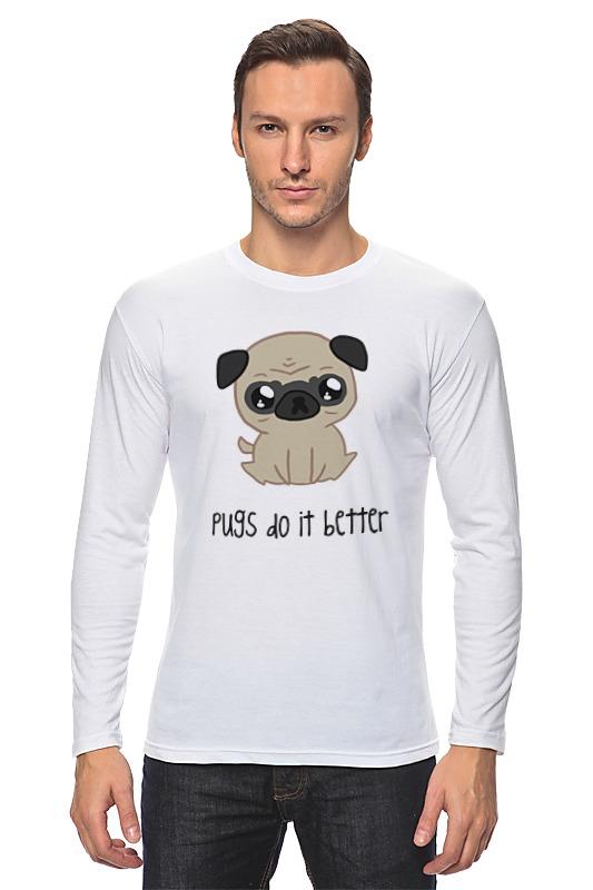 все цены на Лонгслив Printio Мопс (pug)