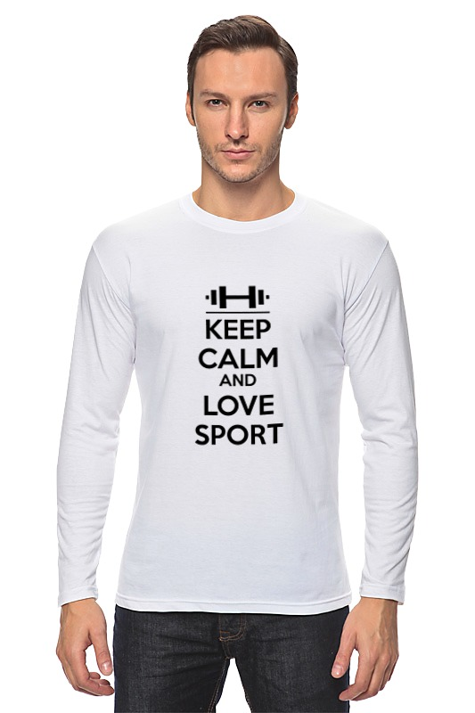 Лонгслив Printio Keep calm and love sport футболка классическая printio keep calm and love sport