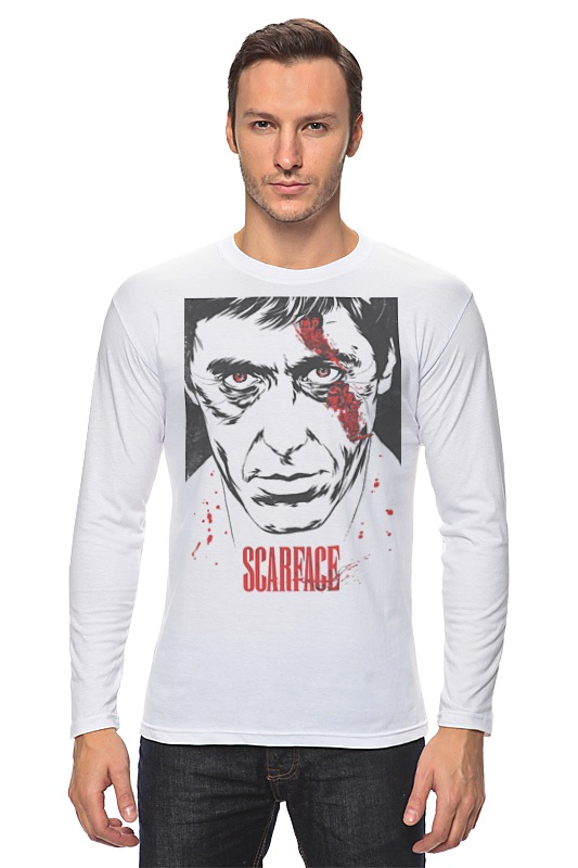 Лонгслив Printio Scarface футболка wearcraft premium printio тони монтана лицо со шрамом